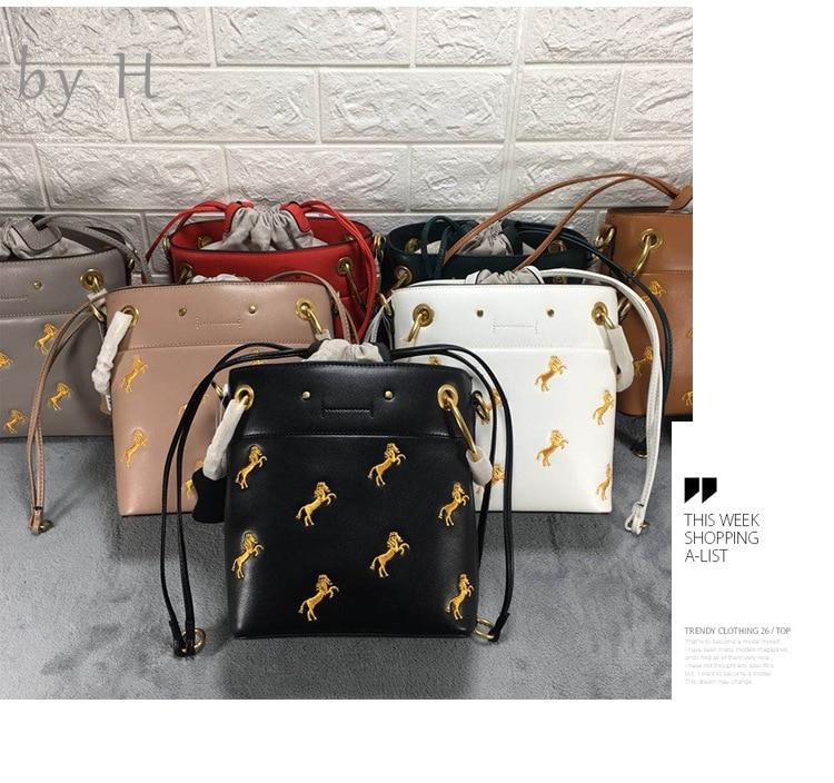 by H Crossbody Bags For Women,Luxury Handbags Women Bags Designer,Purses And Handbags, Horse Leisure Shoulder Bag bucket bag