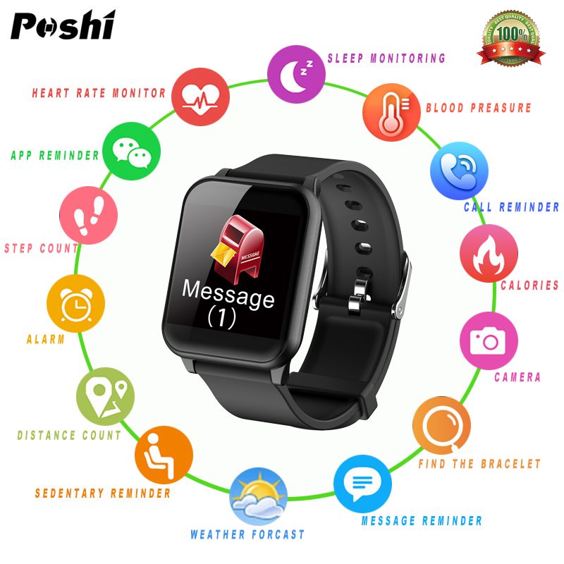 Women Smart Watches Waterproof Sport for Iphone Android Smartwatch Heart Rate Monitor Blood Preasure Functions Men