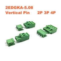 50 ensembles pas 5.08mm 2 P 3 P 4 P vis enfichable PCB bornier 2 EDGKA 2 EDGV broche droite mâle/femelle connecteur enfichable 300 V 15A