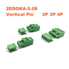 50Sets Pitch 5.08mm 2P 3P 4P Screw Plug-in PCB Terminal Block 2EDGKA 2EDGV Straight Pin male/female Pluggable Connector 300V 15A стоимость