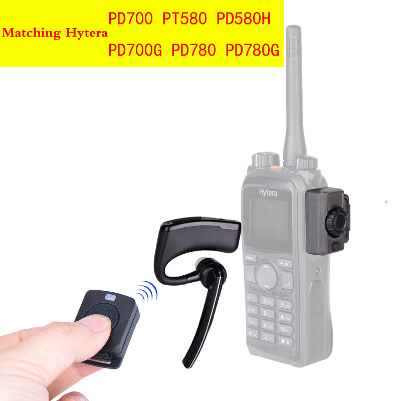 Walkie Talkie Wireless Earpiece Walkie Talkie Bluetooth Headset Two Way Radio Wireless Earphone For Hytera PD780 PD700 PD580H-in Walkie Talkie from Cellphones & Telecommunications