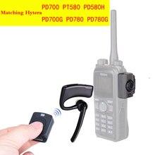 Walkie talkie fone de ouvido sem fio walkie talkie bluetooth fone de rádio em dois sentidos sem fio para hytera pd780 pd700 pd580h