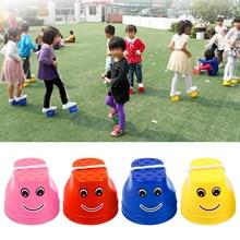 1 Pair Plastic Balance Training Equipment Smile Jumping Stil