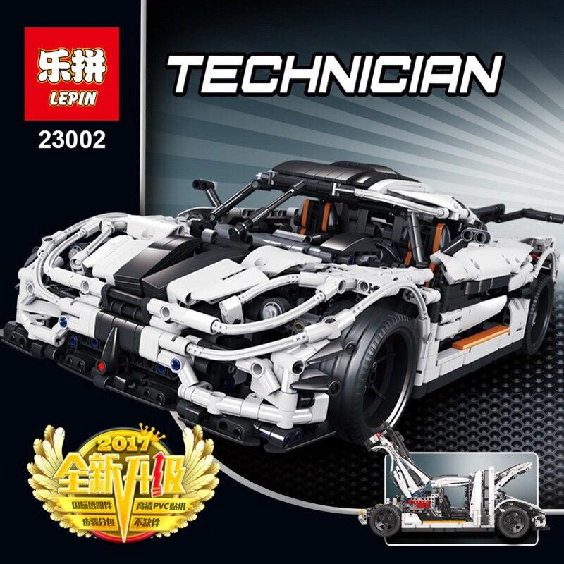 DHL LEPIN Technic 23002 embouteillage de voiture compatible avec LegoINGlys 42056 modèle blocs de construction briques classique voiture jouets garçon cadeaux