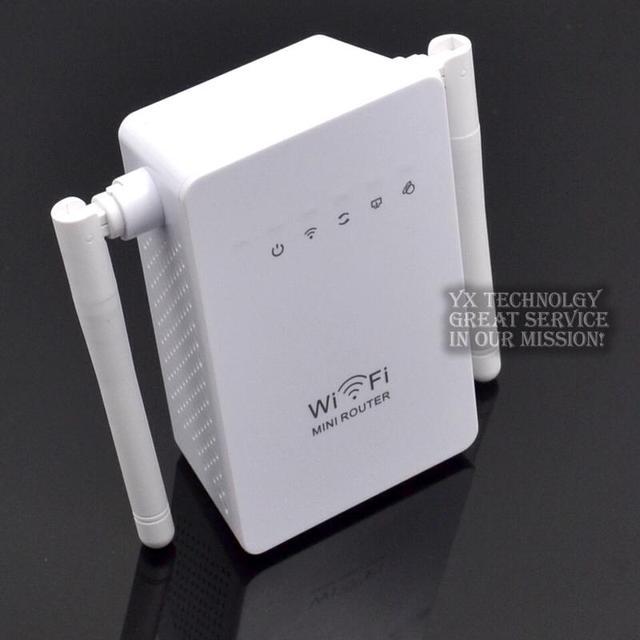 Двойная антенна два порта Ethernet 300 Мбит беспроводной повторитель беспроводной усилитель сигнала WIFI беспроводной маршрутизации AP