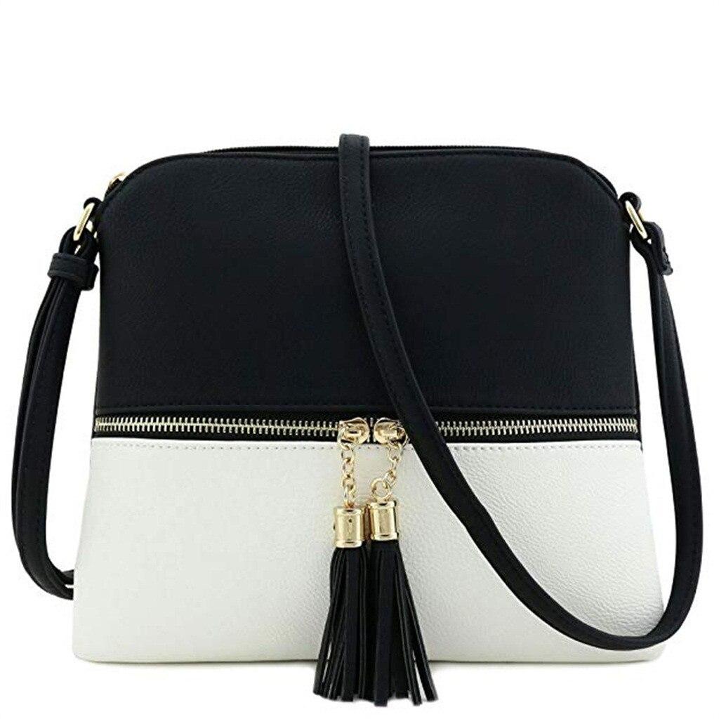 Woman Shoulder Bags Leather Tassel Crossbody Hit Color Messenger Bag Purses And Handbags Luxury Handbags Women Bags Designer