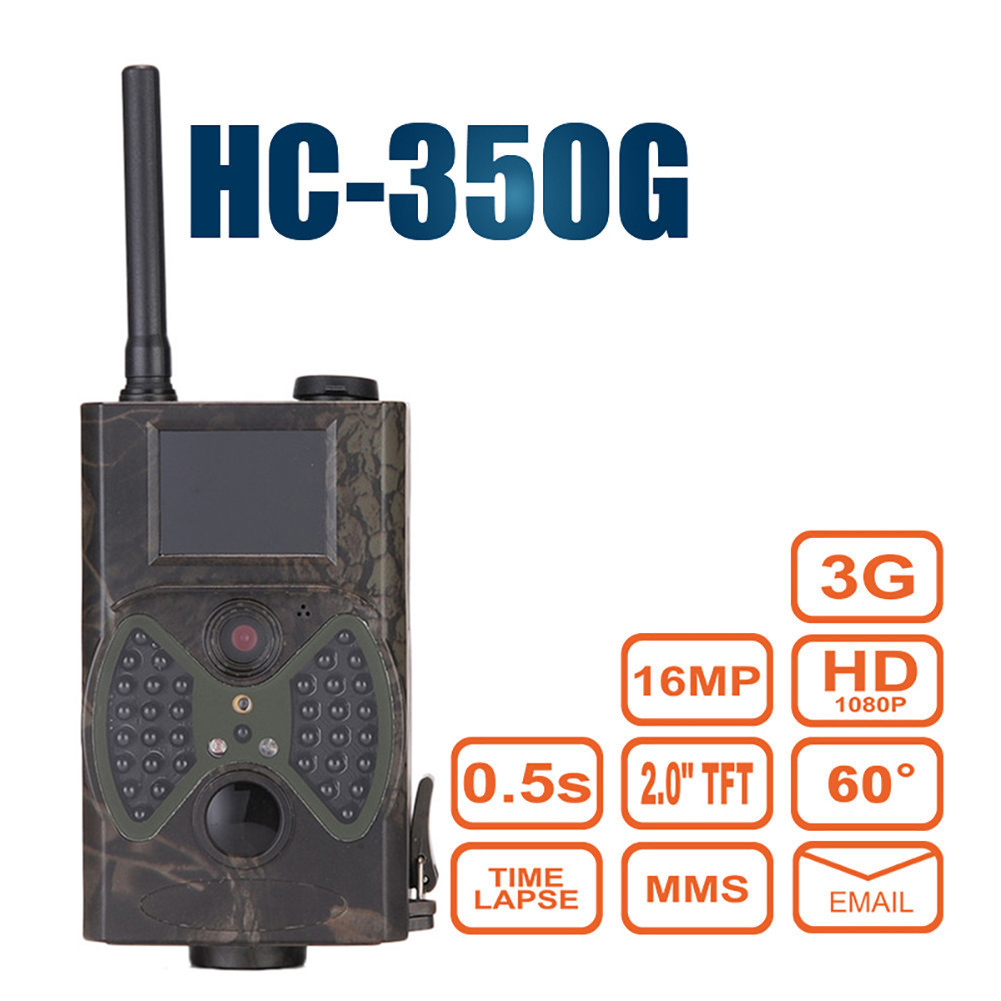 Hunting Camera Trail Scouting Wildlife Cameras 3G MMS SMTP Email HC350G Night Vision Trap Infrared Camcorder Animal Tracking image