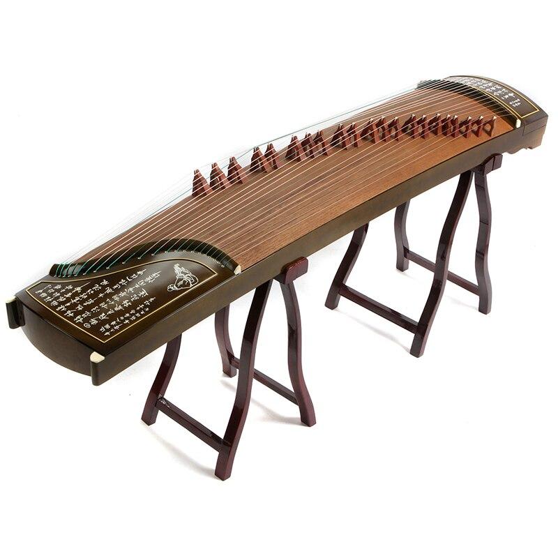Haute Qualité Professionnelle 10 Niveau Jouant Guzheng Yangzhou Instruments de Musique Chinois 21 Cordes Avec Accessoires Complets