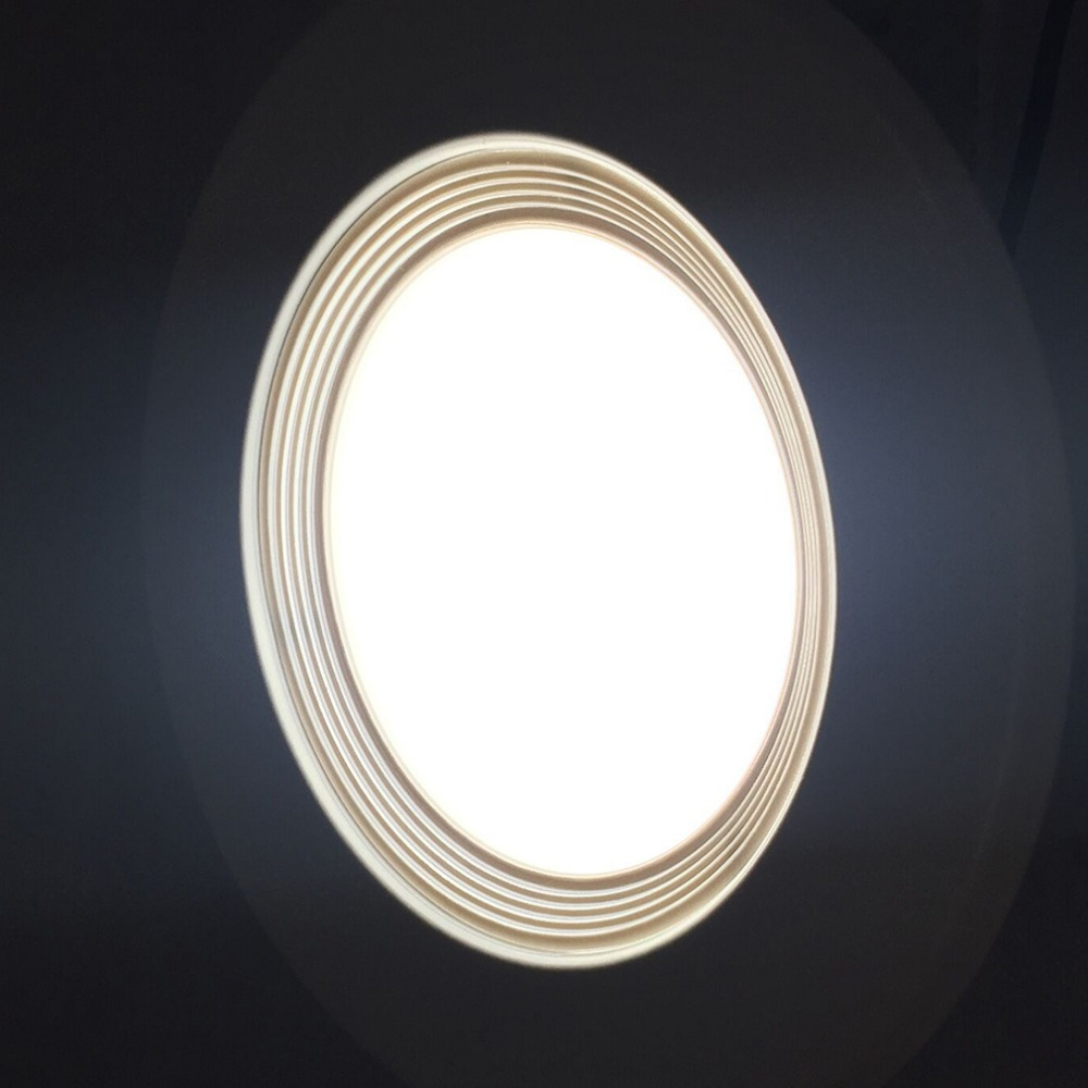 12pcs 6 Inch Adjustable Bright DownLight 15W LED <font><b>Recessed</b></font> Trim Dimmable Retrofit <font><b>Can</b></font> Light Round Panel Light Lamp