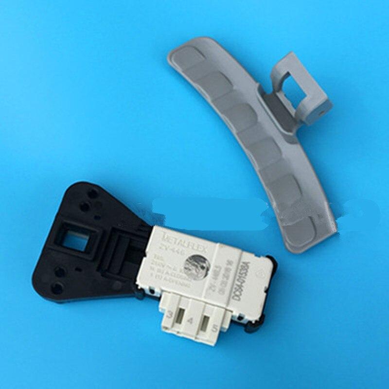 Drum Washing Machine Door Handle+micro Delay Switch Door Lock Suitable For Samsung DC-64-01524A WD8754CJZ Washing Machine Parts