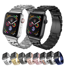 Lerxiuer Strap For Apple Watch 4 42mm 44mm Iwatch Band 38mm 40mm Stainless Steel Link Bracelet Wrist Metal Watchband Accessories 9 pointer stainless steel watchband for 38mm 42mm iwatch apple watch sport edition wrist band link strap bracelet adapters