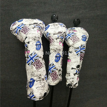 UK Flag Golf Head Covers For Driver Fairway Woods 1 3 5 Head