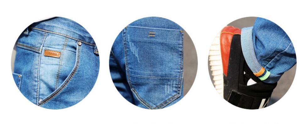 Loldeal marka kişilər üçün cins ölçülü 28 ilə 38 qara mavi - Kişi geyimi - Fotoqrafiya 6