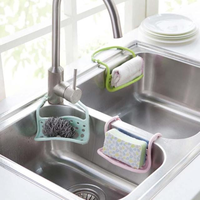 1pc foldable sink sponge holder cleaning brush scouring pad drain 1pc foldable sink sponge holder cleaning brush scouring pad drain rack shelf bathroom soap hanging shelves workwithnaturefo