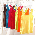 10pcswomen summer cotton top tanks 2015 brand fashion solid candy color top&tees casual tank topstop tank vest  wholesale vest24
