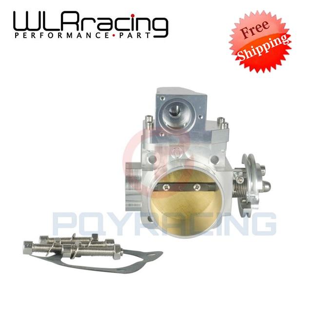 WLRING Free SHIPPING- NEW THROTTLE BODY FOR EVO 4G63 70mm CNC Intake Manifold Throttle Body evo7 evo8 evo9 4g63 turbo WLR6948