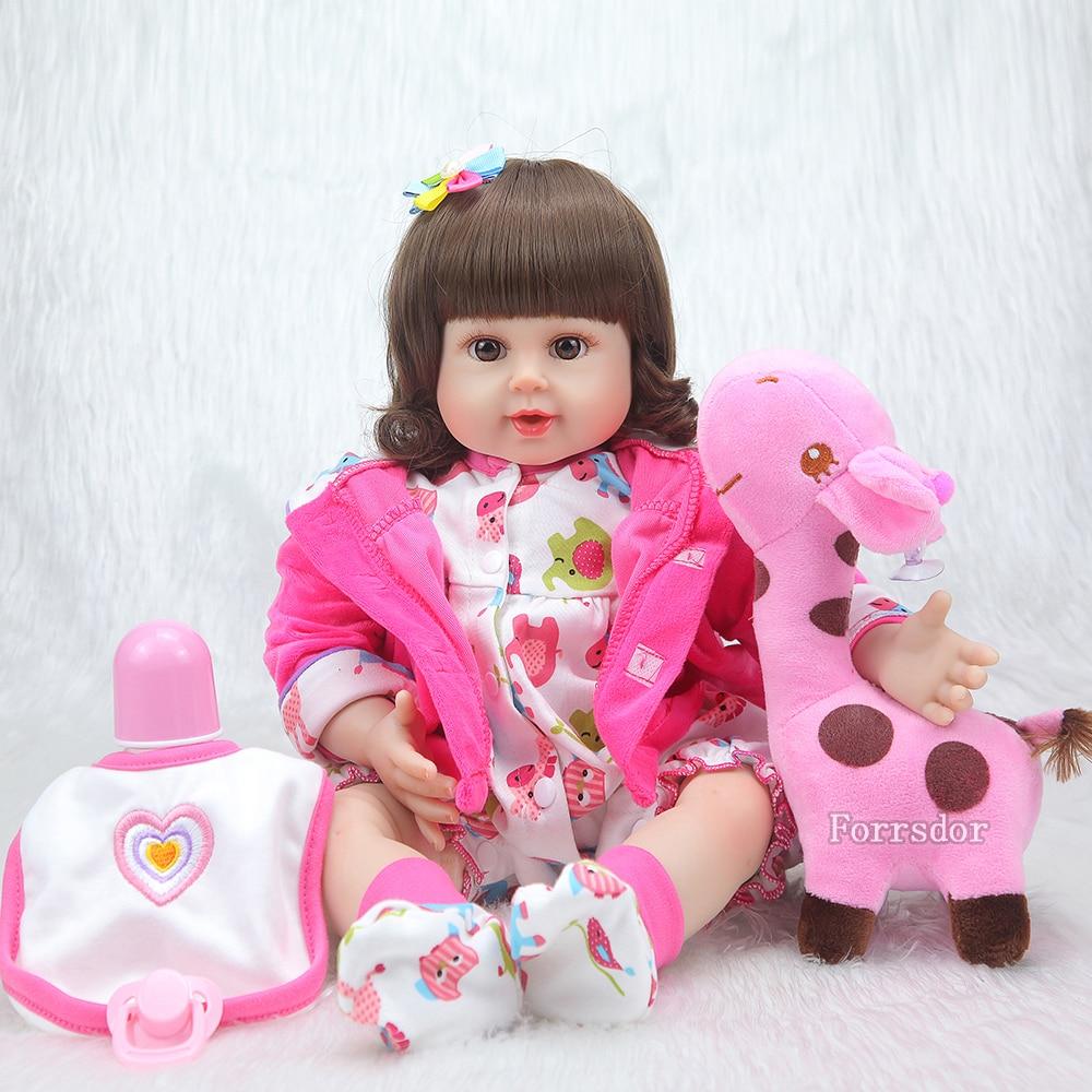 20 zoll Silikon Reborn Baby Mädchen Lebensechte Newborn Baby Puppe Mit Cuty Cawn Boneca Brinquedos Geschenke Kinder Spielzeug-in Puppen aus Spielzeug und Hobbys bei  Gruppe 1