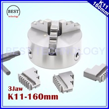 K11 160mm 3 jaw Chuck self-centering manual chuck four jaw for CNC Engraving Milling machine ,CNC  Lathe Machine!