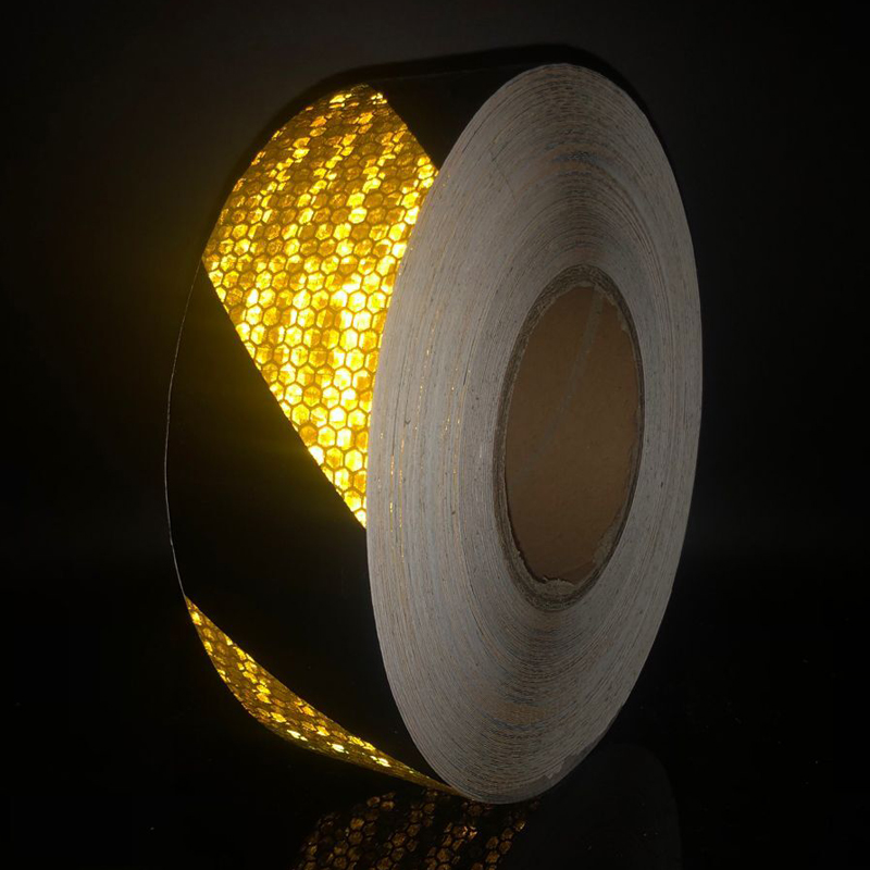 50mm Width Car Reflective Material Tape Sticker Automobile Motorcycles Safety Warning Tape Reflective Film Car Stickers