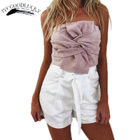 Fashion Elegant Tube Top Bandeau Ladies Summer Strapless Bandeau Top Suede Cropped Boob Tube Tops For