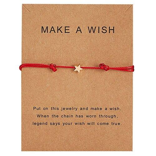 Браслет Wish Card, регулируемый, ручной, плетеный, женский, минималистичный, сердце, корона, круглая нить, Ehthic, браслет, Модные женские ювелирные изделия - Окраска металла: 27