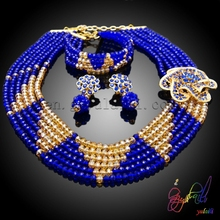 Free Shipping Handmade Bead Jewelry Set in Latest Design New Bead Jewelry Set nigerian african beads jewelry set