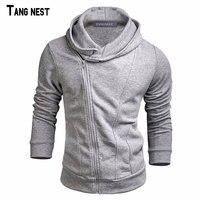 TANGNEST Men Hoodies 2017 New Fashion Male Solid Casual Sweatshirt Suit Men S Slim Fit Zipper