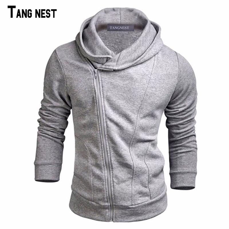 TANGNEST Männer Hoodies 2019 Neue Design Männlichen Feste Beiläufige Fleece Sweatshirt männer Slim Fit Zipper Beliebte Mantel Größe MWW883