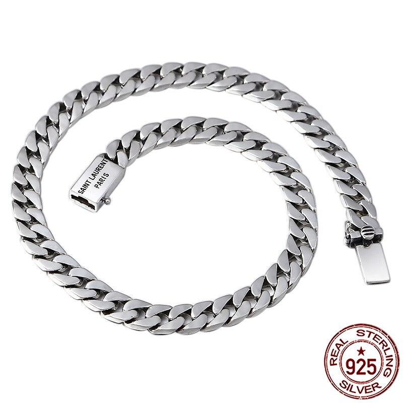 100% S925 серебро Мужская ожерелье Личность Мода ретро ювелирные изделия властная панк стиль якорь форма отправить подарок любовника