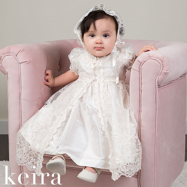 New Lolita Infant Christening Dress Boys Girls Baptism Gown Flower ...