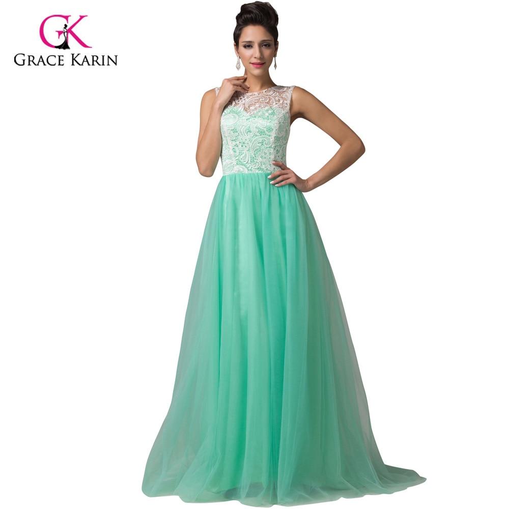 Grace Karin Long Lace Prom Dresses 2017 White Blue Black Green ...