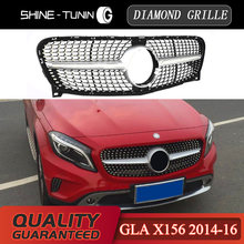 Rejilla de diamante para parrilla de M-B gla, malla de ABS X156, GLA180, GLA200, GLA250, GLA Clase 2014 -16, 2017-18