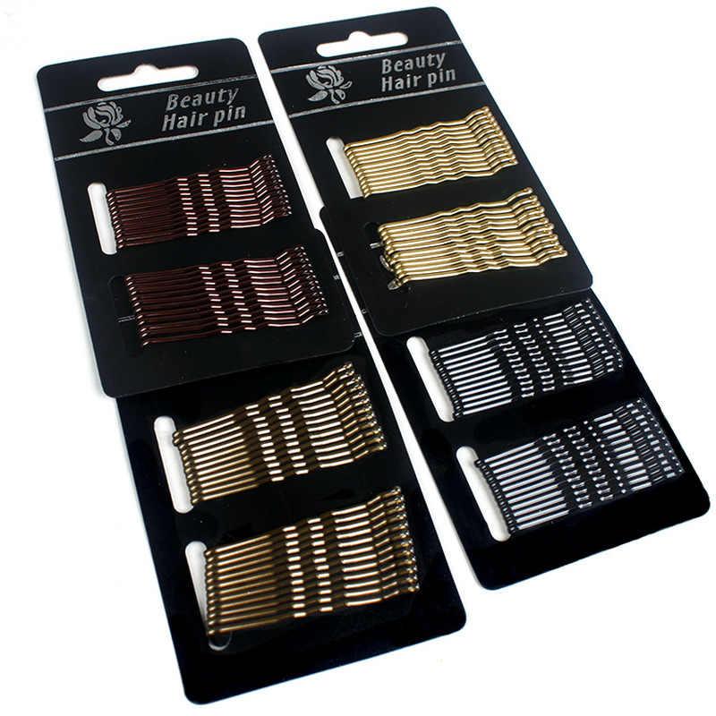 24 unids/pack 4 colores opcionales caída de pelo del aceite de 5 CM de cabello en la mujer Clips diademas dama de buena calidad horquillas pelo chica accesorios