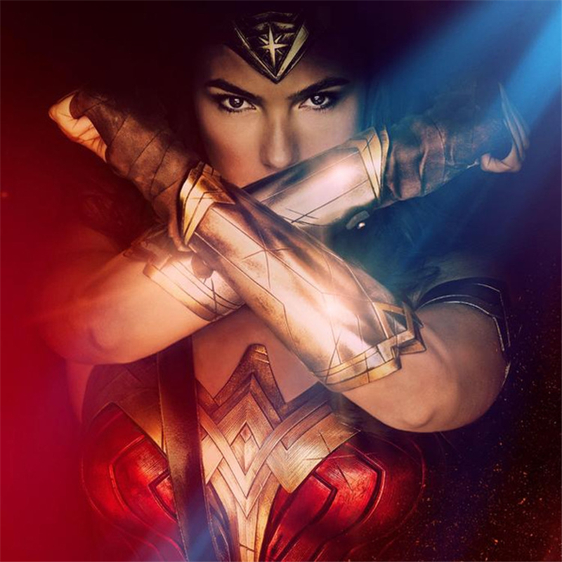 Wonder Woman And Wrist Band Role Playing Support Children's Bracers Cosplay Kids Gift, Performance Props