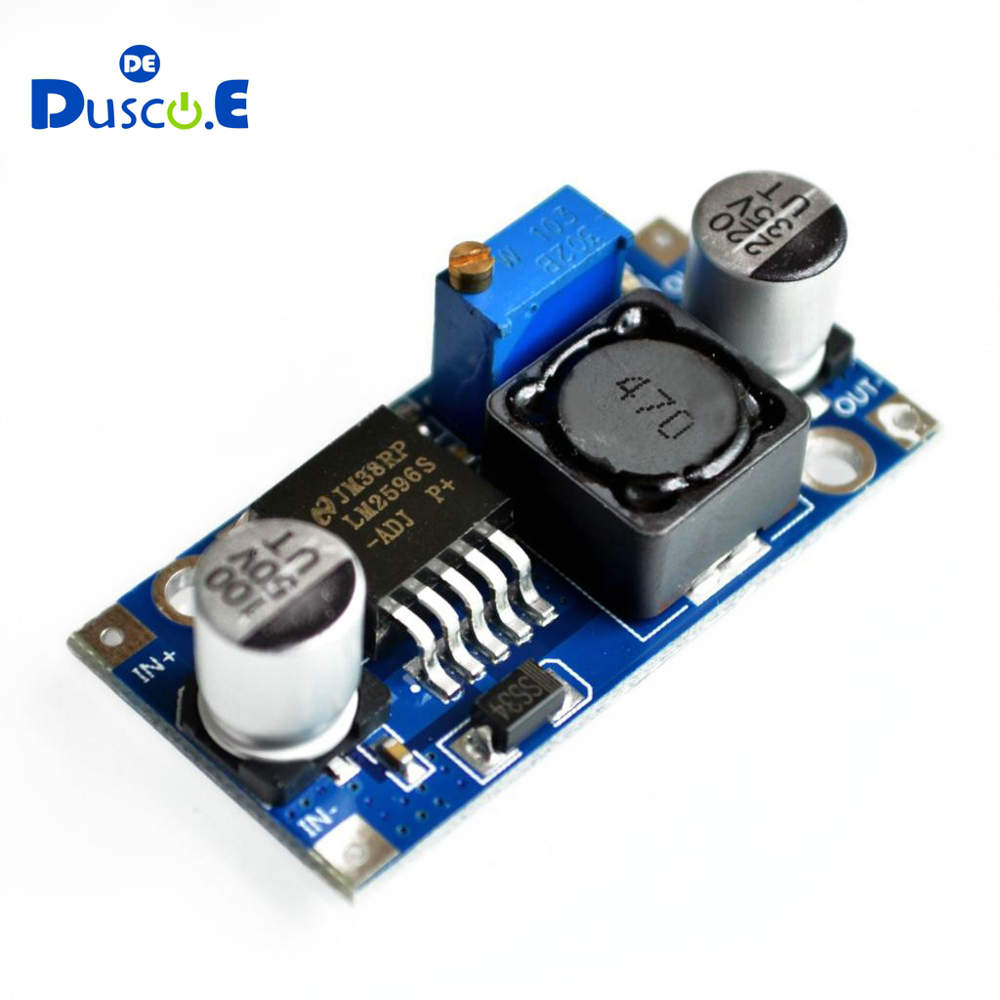 Hot Sale 100pcs LM2596 DC DC 3 40V Adjustable Step down Power Supply Module LM2596S 3A