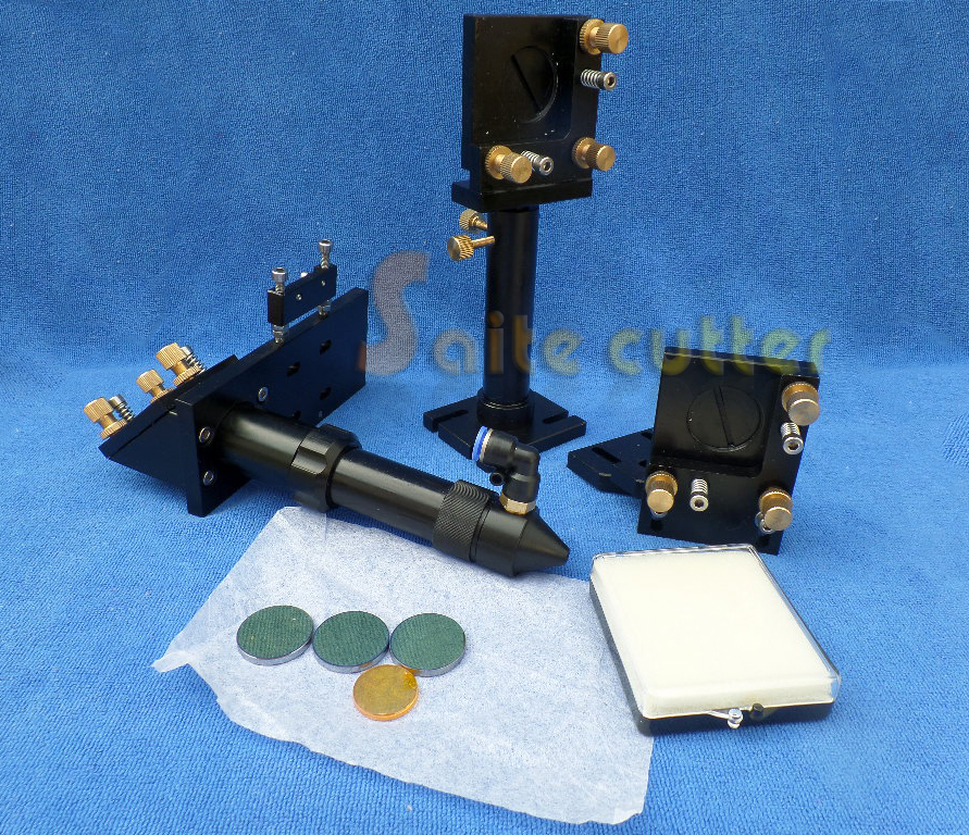 New Type Aluminum laser Head, Mirror Holder Focus Lens Holder for CO2 laser Engraving and cutting Mirror 20mm, Lens 20mm