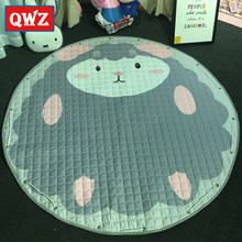 QWZ 150cm Baby Toys Kids Play Mat Rugs Toy Organizer Storage Cotton High Quality Carpet Floor Playmat For Children Toys Gifts(China)