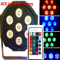 Wireless Remote Control LED Par 7x12W RGBW 4IN1 LED Wash Light Stage Uplighting Free Fast Shipping
