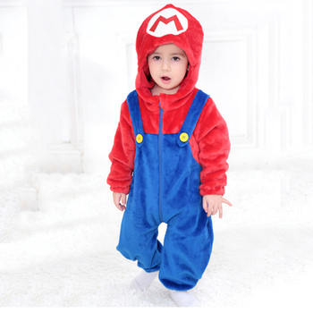 Baby Super Mario Bros Kigurumi Pajamas Clothing Newborn Infant Romper Onesie Animal Anime Costume Outfit Hooded Winter Jumpsuit baby elephant kigurumi pajamas clothing newborn infant romper animal onesie cosplay costume outfit hooded jumpsuit winter suit