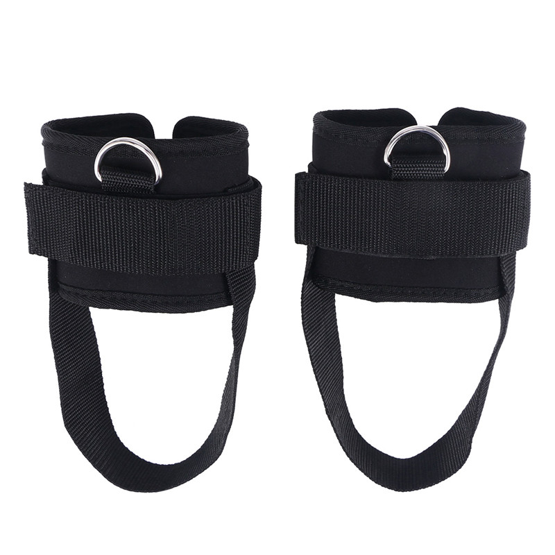 2 pcs Sport Ankle Straps Padded D-ring Ankle Cuffs for Gym Workouts Cable Leg