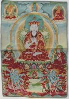 Golden silk embroidery thangka Buddha in Tibet and Nepal