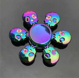 AOSST Rainbow color Fidget Spinner Metal Finger Adult Toys