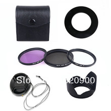 100% GUARANTEE   52mm Lens Hood + UV CPL FLD Filter Kit + Cap for Nikon D3100 D5100 D5000 D3200 D80 D90  w/ 18-55mm
