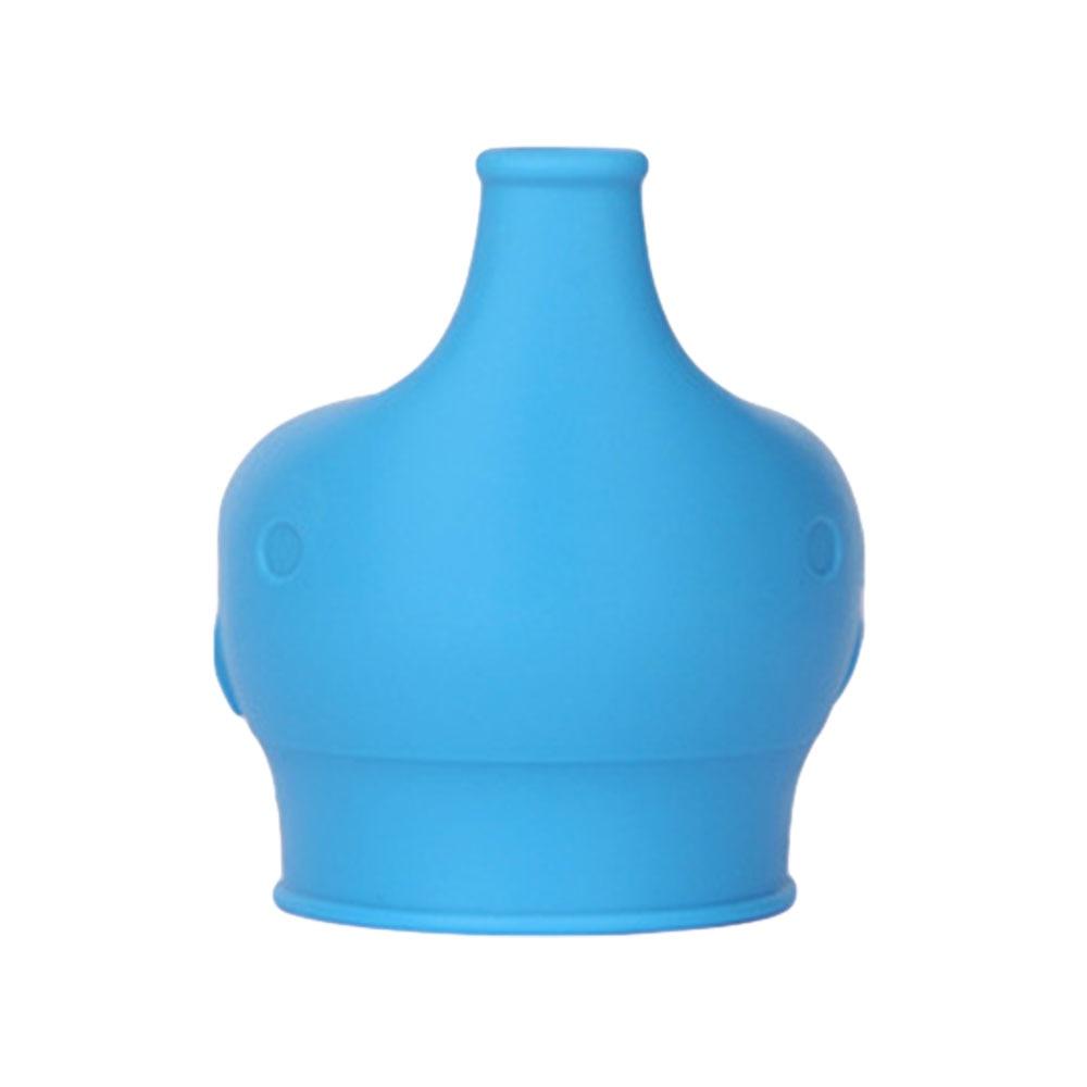 Сиппи открывающаяся крышка Силиконовая Стекло чашки ребенка поставить защита от проливов питья силиконовая крышка детские бутылочки Кепки аксессуары для бутылок - Цвет: blue