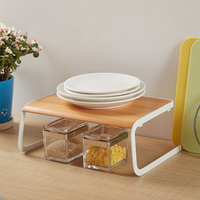 Eco friendly Plate Drying Home Wooden Solid Desktop Multifunctional Convenient Decorating Dish Rack Gift Storage Holder