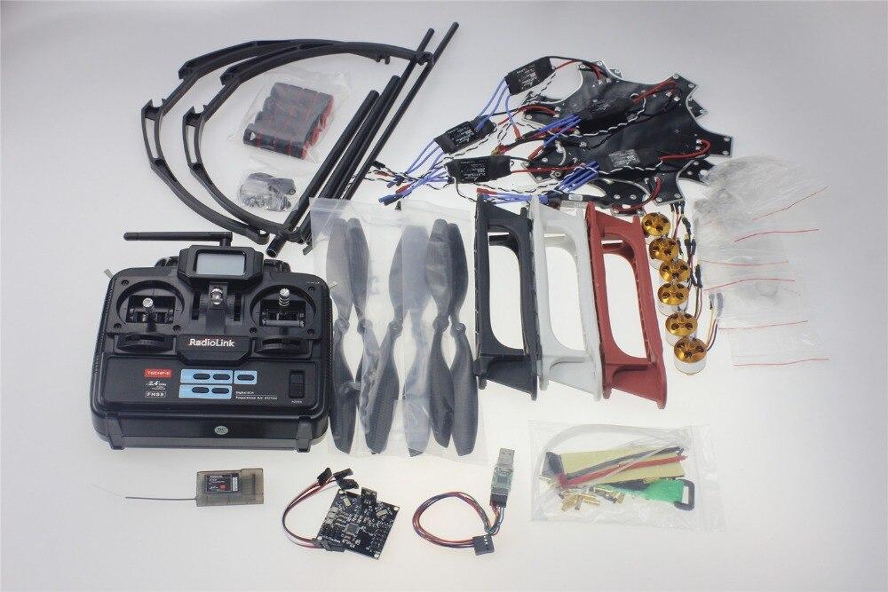 ФОТО f550 drone flamewheel kit with kk 2.3 hy esc motor carbon fiber propellers radiolink 6ch tx rx+tall landing skid ptz f05114-w