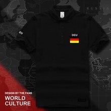 Alemanha Deutschland camisas pólo dos homens de manga curta branco marcas  impressas para equipe nação bandeira f5f7ecbb986d2