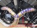 Silenciador de escape deslizable de motocicleta hecho a mano para v-rod Muscle Night-Rod especial aleación de titanio tubo completo