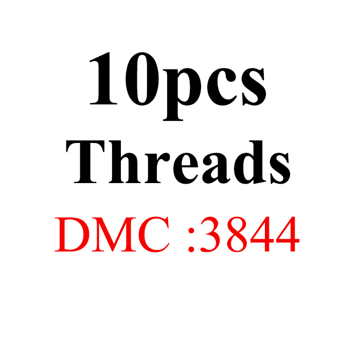 Snowlover, рукоделие, 10 шт./лот, 1,2 м, разные цвета, DMC3824-3848, вышивка крестиком, хлопковое шитье, моток пряжи, нить для вышивки - Цвет: 1.2mthread-DMC3844