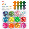 TCRR 001 Iridescent Rainbow Color Round Shape Set Mix Size Nail Glitter For Nail Art Decoration